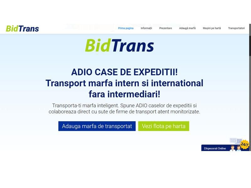 Bursa de transport marfa BidTrans.eu